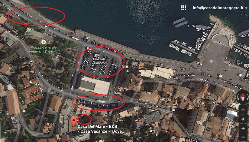 parcheggi gaeta medievale ZTL casa del mare gaeta casa vacanze beb